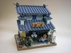 ドールハウスキット ミニチュア 夏休み工作<br>脇町の藍染屋