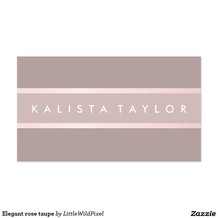 Elegant rose taupe pack of standard business cards