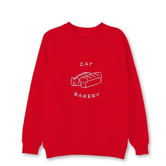 Kpop New Blackpink Same Sweatershirt Harajuku style Loose Long sleeved Hoodie Man and Women's Winter Hoody with hat Red M