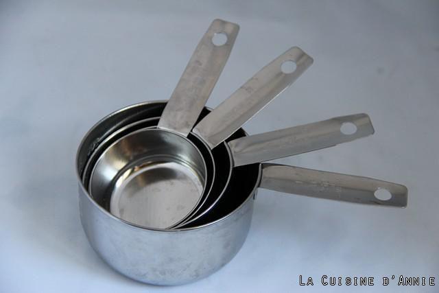 Equivalence Cup- grammes - Les recettes de cuisine d'Annie