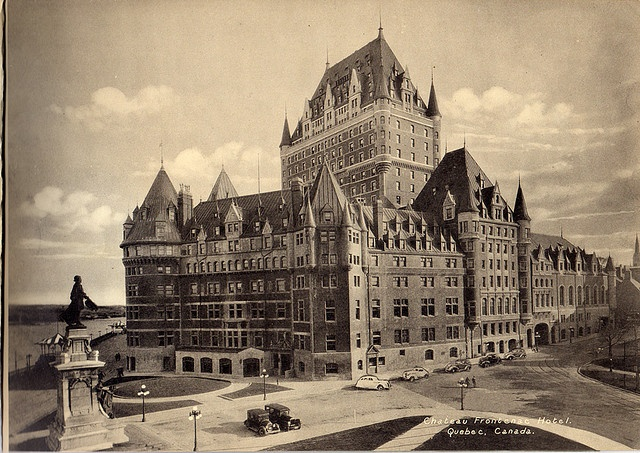 Chateau Frontenac Hotel ,Quebec Canada, June 1, 1930    Vintage Photo by Photogelatine Engraving Co. Chateau Frontenac Hotel ,Quebec Canada