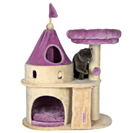 Camelot Cat Castle - Perfect for that prince or princess kitty.. Love this *too cute not to pin*Camelot Castles, Kitty Darling, Darling Castles, Cat Meow, Purple Home Decor, Cat Trees, Cat House, Pets Products, Cat Castles