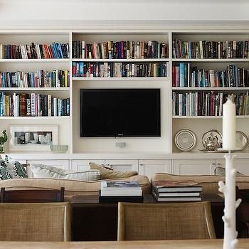 Built In Bookcases, Transitional, living room, Adelaide Bragg