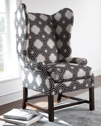 """Blakely"" Wing Chair at Horchow."
