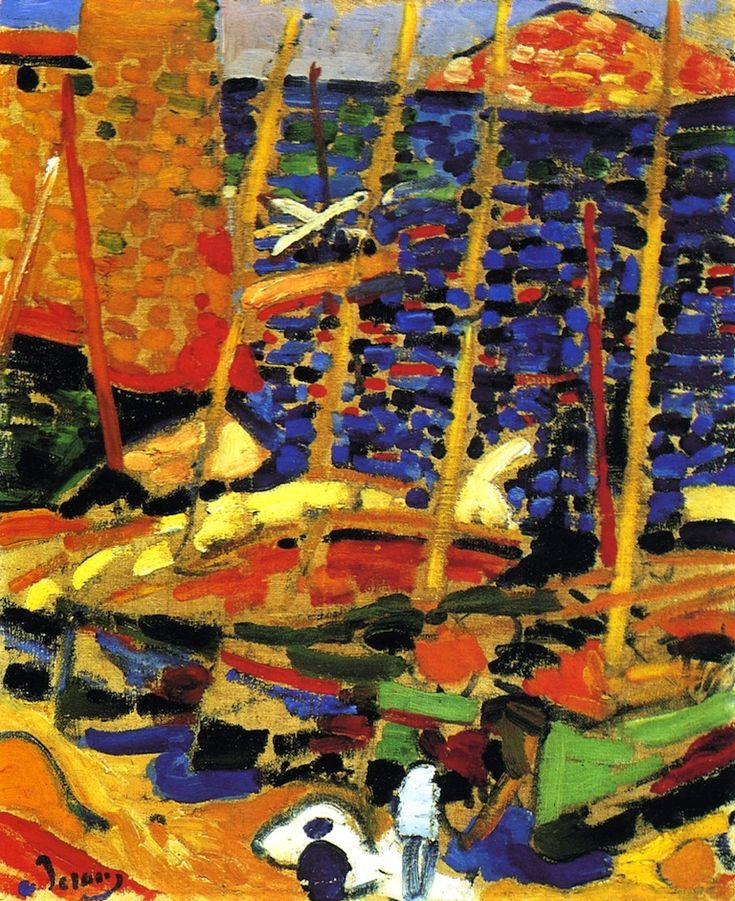 Andre Derain, The Port of Collioure, 1905. Fauvism. Pointillism
