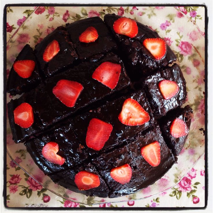Chocolate Cake with Strawberry❤️