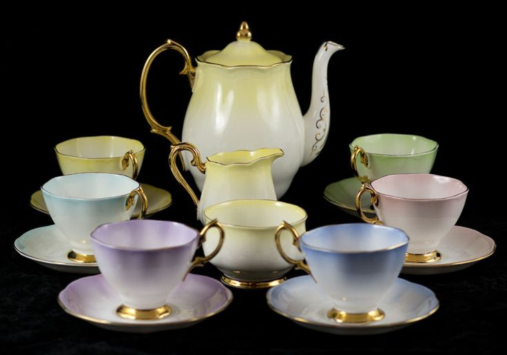 Royal Albert Lady Katherine 15 Piece Coffee Set Harlequin Colours