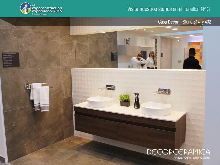 Ven a  #CASADECOR Stand 314 en #expoconstruccion y contempla nuestro ambiente MILLENIUM QUILT. #decorceramica