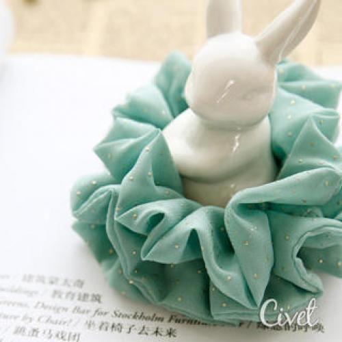Dotted Chiffon Hair Tie