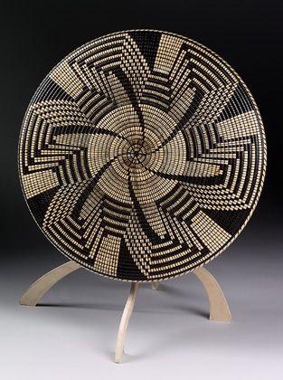 """*Wood Sculptue - """"Pima Pinwheel"""" by David Nittmann (Basket Illusion)"""