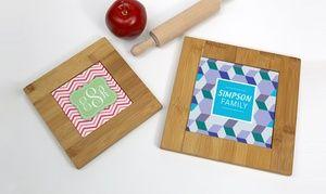 Groupon - Custom Cork Hot Pads or Bamboo Trivet from Monogram Online. Groupon deal price: $5