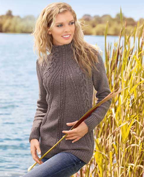 Длинный свитер - схема вязания спицами. Вяжем Свитеры на Verena.ru