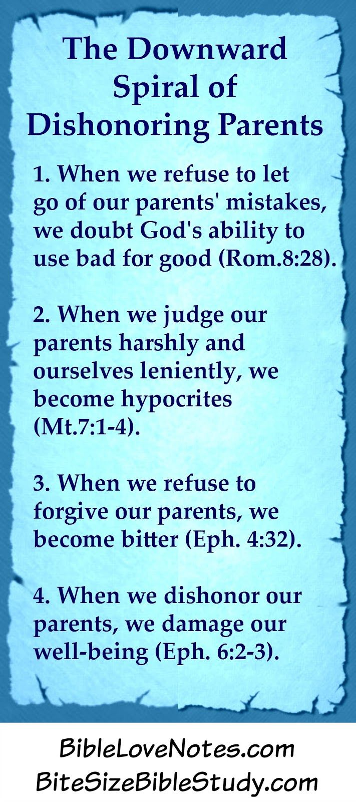 What Does The Bible Say About Bad Parents