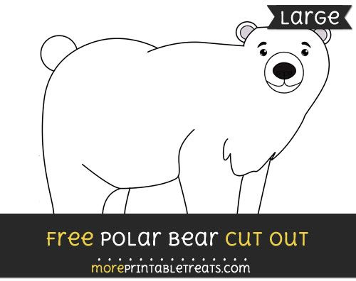 graphic relating to Printable Polar Bear Pictures identified as Absolutely free Polar Undergo Minimize Out - Heavy measurement printable Very first