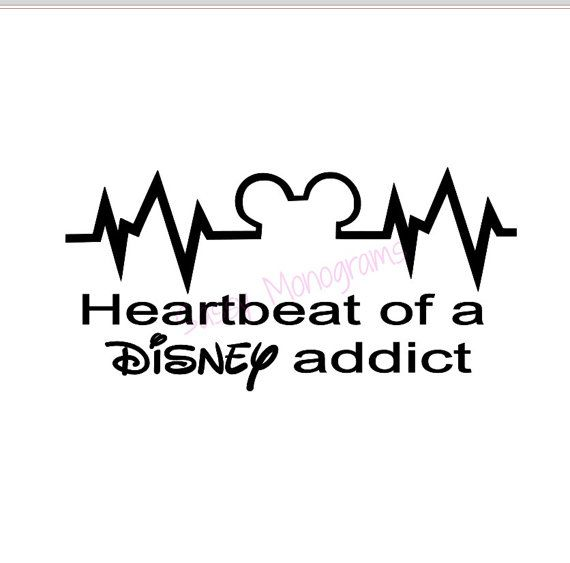 Heartbeat of a Disney Addict Vinyl Decal by SassyMonogramAndMore, $4.00
