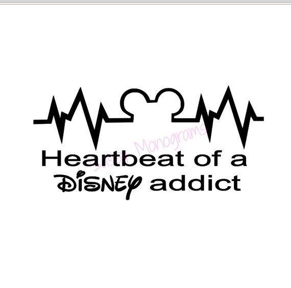 Heartbeat of a Disney Addict Vinyl Decal by SassyMonogramAndMore, $4.00