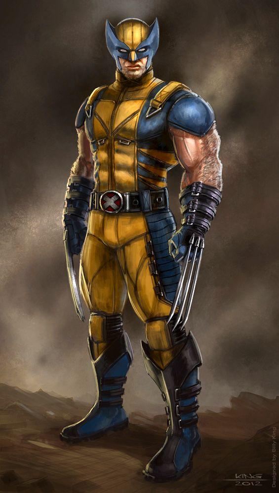 Design for Wolverine for the Game 'Deadpool' by High Moon ... X Men Deadpool Drawings
