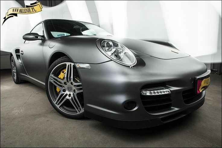 porsche 911 turbo in anthracite made by www.oklejsie.pl