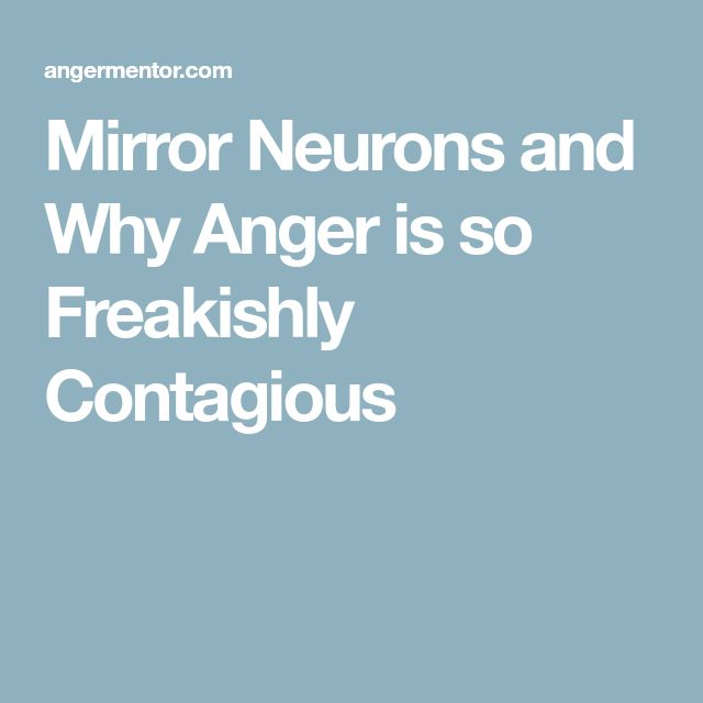 Mirror Neurons and Why Anger is so Freakishly Contagious