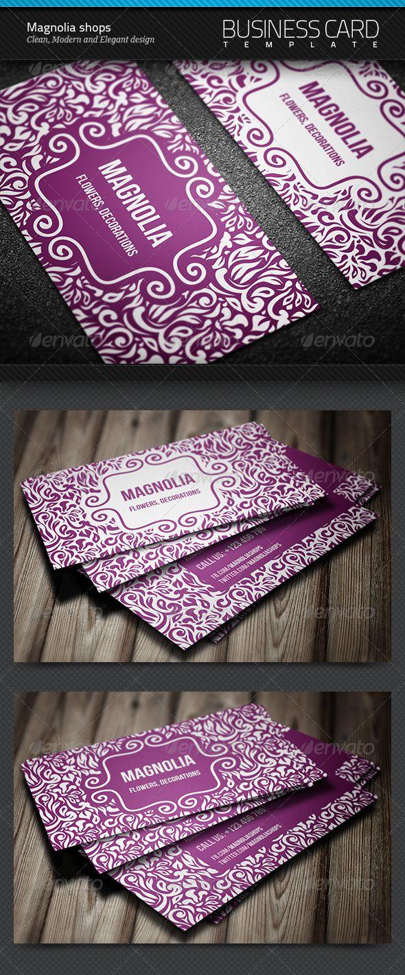 Magnolia Shops Business Card | $6