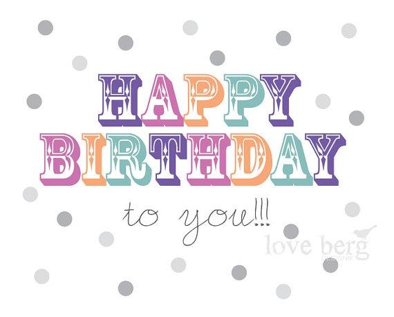 Items similar to Happy Birthday To You PRINTABLE Poster - PDF Digital File on…