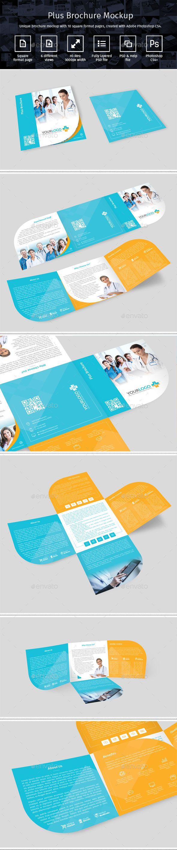 Plus Brochure Mockup. Download here: http://graphicriver.net/item/plus-brochure-mockup/15723405?ref=ksioks