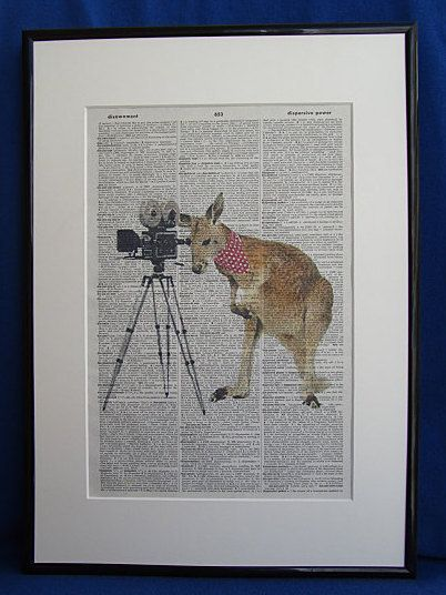 Kangaroo Movie Producer Wall Art Print by DecorisDesigns on Etsy