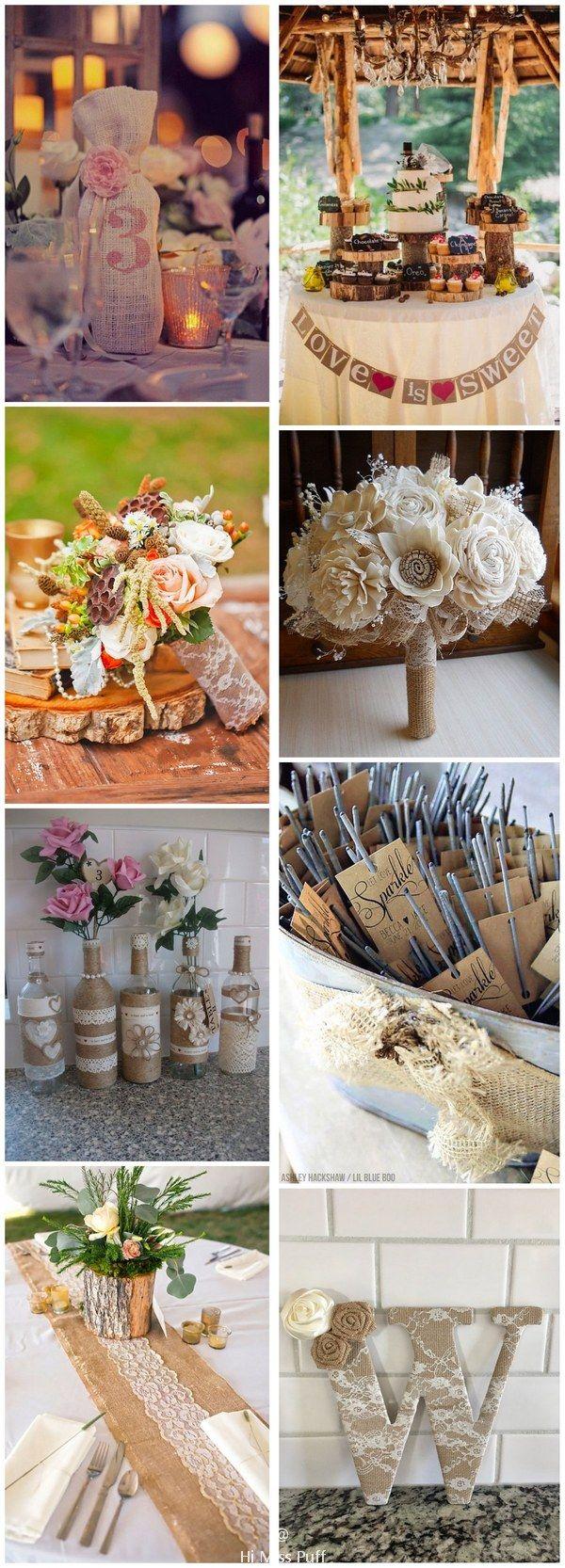 Rustic Country Burlap Wedding Ideas You'll Love #rusticwedding #countrywedding #burlapwedding #rustic #weddingideas