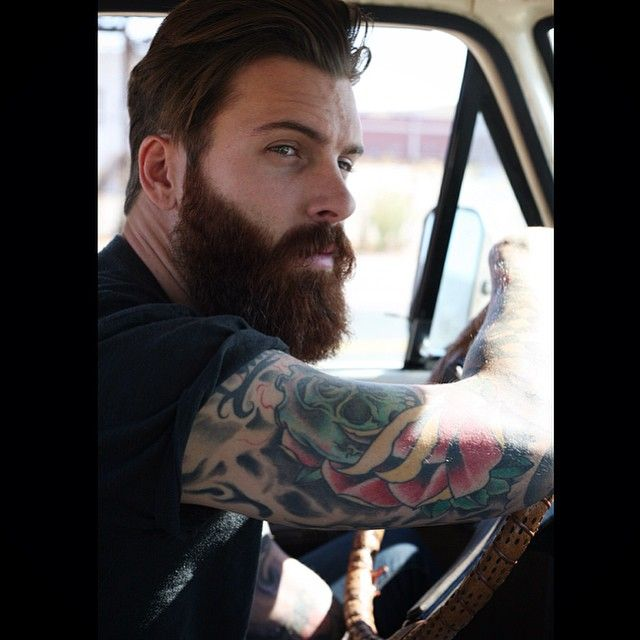 Vintage style tattoos men for Red beard tattoo