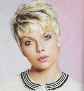 Thick Blonde Pixie Hairstyle