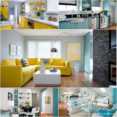 A good example of colour in a kitchen such as cabinetry, and using colours in your accessories. If you bore of the colour, it is much easier to swap out accessories, than to swap out a kitchen.