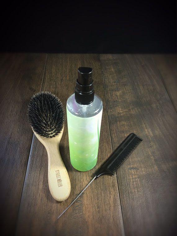 Sprühkur für Haare selbst gemacht aus dem Thermomix, für bessere Kämmbarkeit, aus Aloe Vera, stärkt die Haare