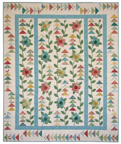 Indian Vine: Flying Geese, Indian Vines, Beautiful Quilts, 2014 Quilts, Applique Quilts, Kids Quilts, Vines Patterns, Flowers Quilts, Quilts Border