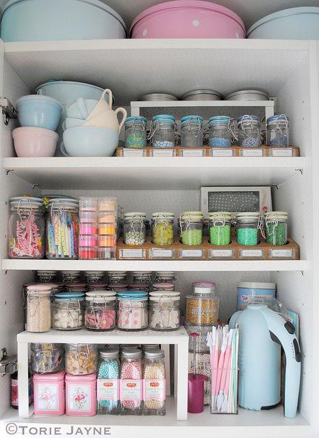 Inside my cake decorating cupboard by Torie Jayne