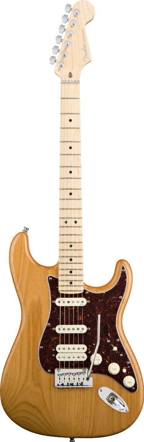 Lovely: Fender American DeLuxe Stratocaster HSS Amber. Maple neck, Modern two point tremolo w/ pop out arm, roller nut & locking tuners.