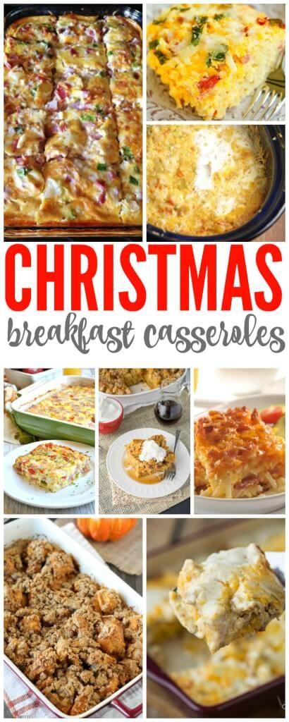 Christmas Breakfast Casseroles for Family Breakfast on Christmas Morning!