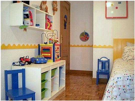 Habitaciu00f3n infantil en blanco y amarillo : Kids bedroom u0026 Decoration ...