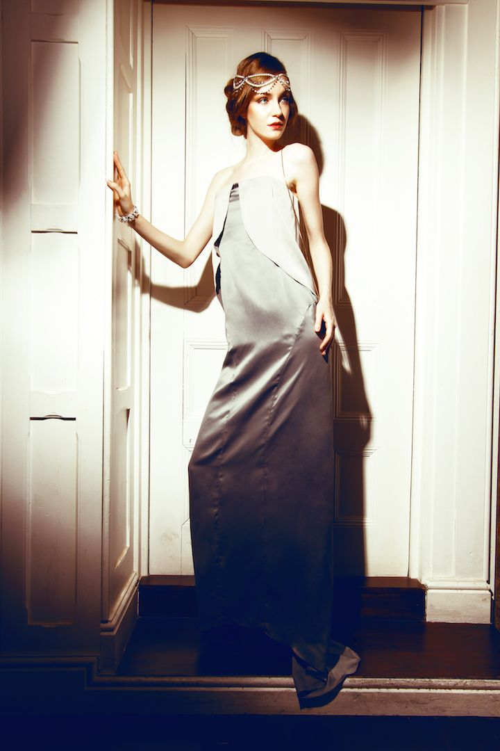Shades of grey gown.
