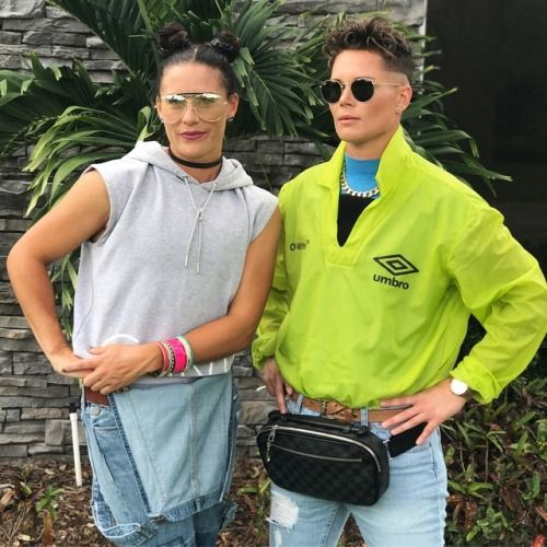 Ashlyn Harris, Ali Krieger 90s night Tomboy fashion