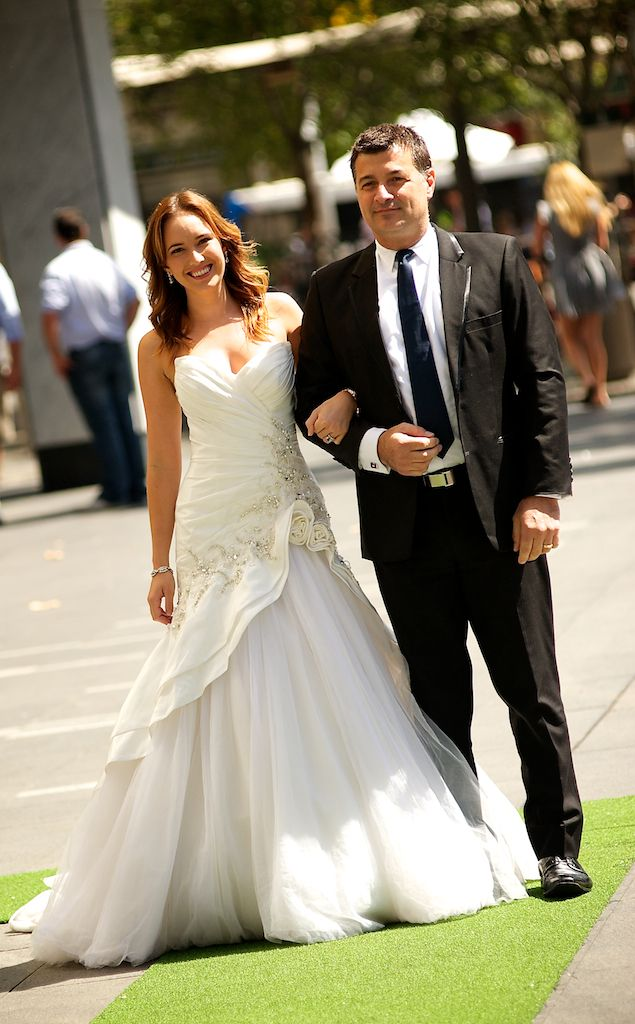 My #ThriftShop bride and groom Total look for Bride-$150 Total Look for Groom - $90 #FashionHound