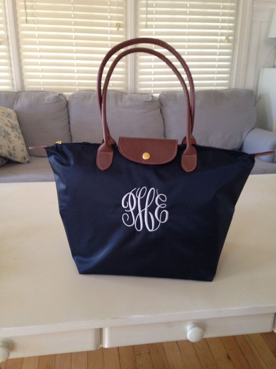 sale Navy Personalized Bag Medium Tote Nylon fold up by nnichols