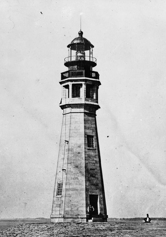 Lighthouse1859  Lighthouse    At the Buffalo Harbor, Buffalo River and Lake Erie from 1859. Prints and Photographs Division, Historic American Buildings Survey or Historic American Engineering Record. HABS, NY,15-BUF,17-