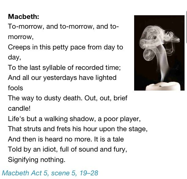William Shakespeare - Macbeth act 5,scene 5 | poetry, thoughts ...