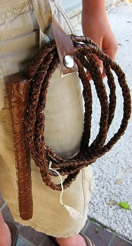 DIY Duct Tape Bullwhip...great for the Indiana Jones' fan!