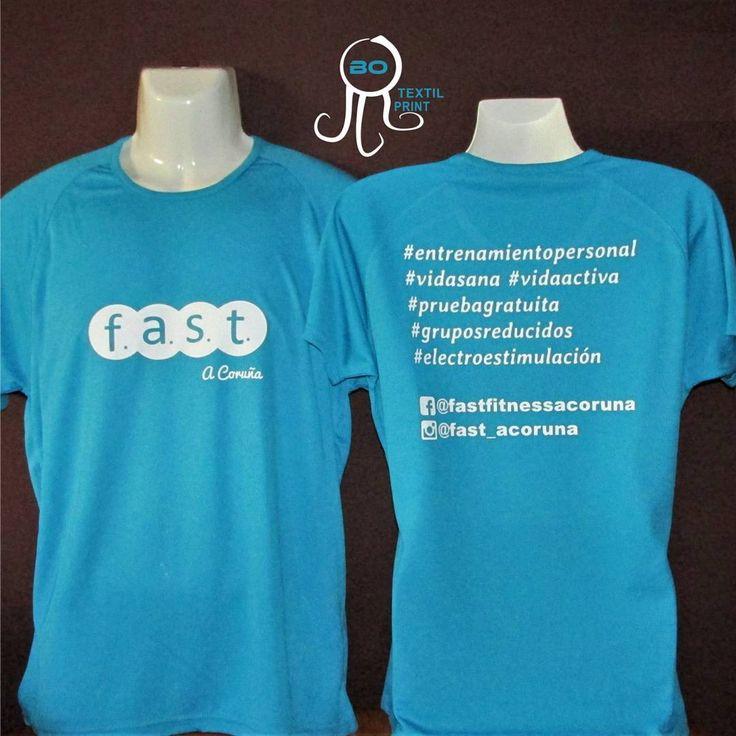 Camisetas técnicas personalizadas Fast Fitness.   www.fastfitness.es    http://www.botextilprint.es    #botextilprint #trabajospersonalizados #camisetas #serigrafía #vinilotextil #fitness #running #pilates #spining #training #gim #gimnasio