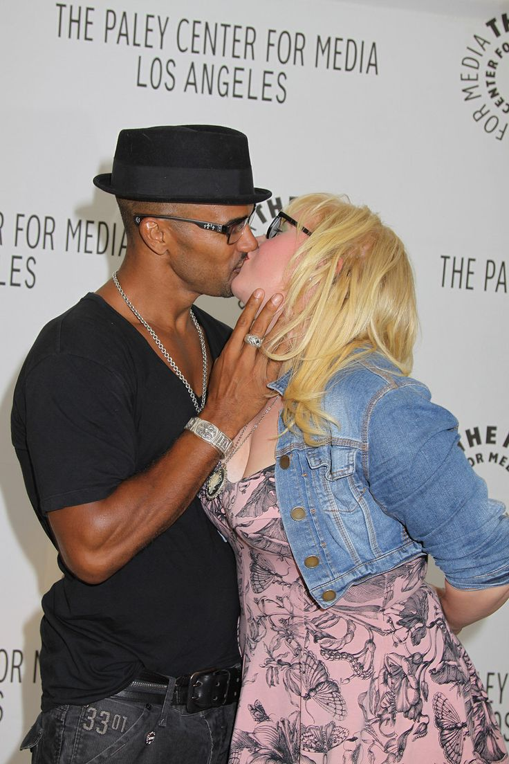 Shemar Moore and Kirsten Vangness - Morgan and Garcia-Criminal Minds. AH!