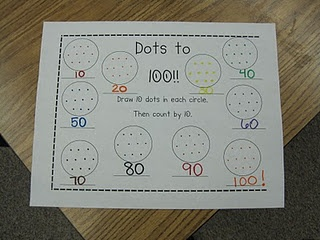 Like this 100 day worksheet