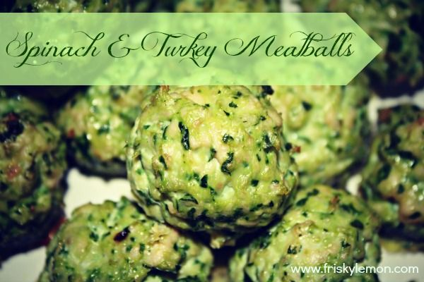 Spinach and Turkey Meatballs... use egg whites