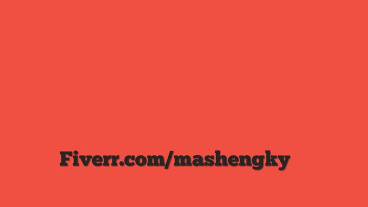 mashengky: create a 60 seconds AMAZING animated sales video to boost your internet marketing revenue for $5, on fiverr.com