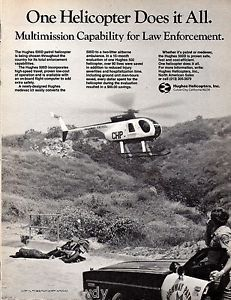 1982 California Highway Patrol CHP Police Officer Cruiser Hughes Helicopter Ad | eBay
